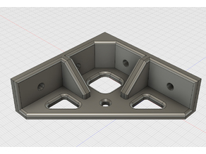 Simple Corner Bracket for 2020 Aluminum Profile