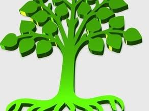 Leaf Tree Pendant