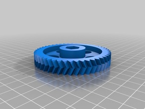 High Res Herringbone Big Gear With 12.8 and 13 mm Hex Head for Greg's Wade Reloaded Extruder