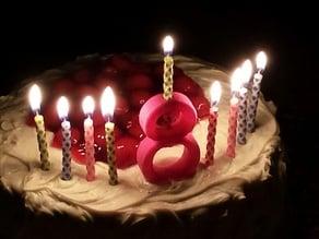 8 Birthday Candle Holder