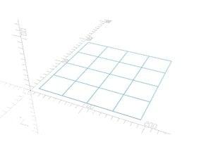 Configurable calibration test XY grid