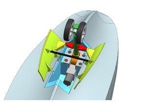 Hobby King Avios HU-16 nose gear retract installation