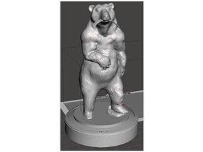 Bear standing with three ribs (Daniel 7)