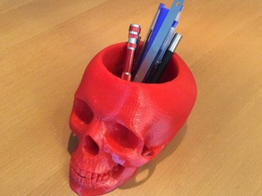 skull pen and pencil holder