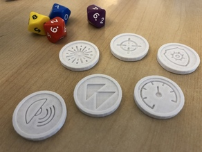 Gaming Tokens x 6 (Star Legions: Spaceship Fleet Battles)