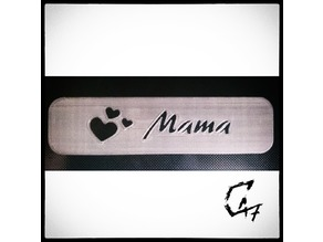 Bookmark - Hearts - Mama / Mom