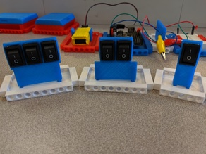 Modular Rocker Switch Mount (LEGO Technic Compatible)