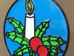 Stained Glass Type Panel (Xmas)