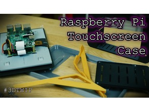 Raspberry Pi 3 and Official 7 inch Touchscreen enclosure with Mounting Bracket