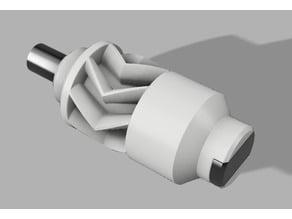 metal shafts transfer box with herring bone gears