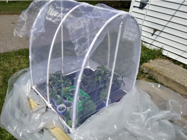 PVC Fittings for Hoop House style Greenhouse by