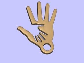 2 hand keychain