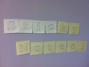Sticky Notes - Unicorn Banner Plotting