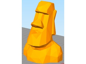 Lowest Poly Moai Statue
