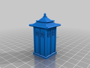 28mm, 1-56 scale Dr. Who Jade Pagoda TARDIS escape pod- REMIX