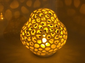Voronoi LED toadstool tealight shade