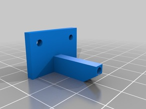 Filament guide for Printrbot Simple 2014 with wooden extruder.