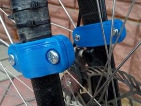 Holder clamp for front full fender to carbon fork 29er bicycle MTB bike