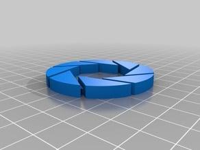 My Customized Parametric Aperture Science logo Magnet