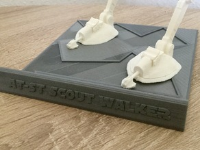 Plate Base for AT-ST Scout Walker