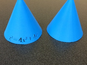 Cone with formula