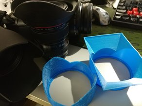 Parametric & Customizable dSLR Camera Lens Hood Creator