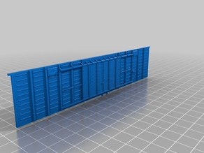 Thick walls for SZHD/RZHD boxcar 1:87