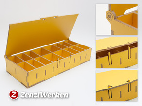 Compartment Storage Box w/ Lid cnc/laser