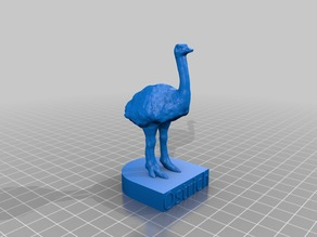 Ostrich with base