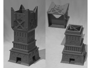 Four Way Techno Dice Tower