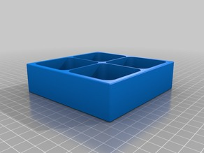 Magnetic Screw Tray/Box 4 Compartments