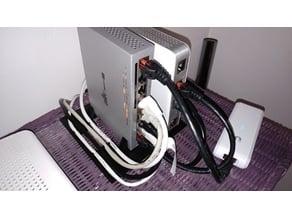 Ubiquiti USG + switch8 vertical stand