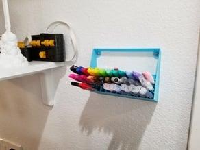Pencil Pen Marker Tool Holder Wall Mount