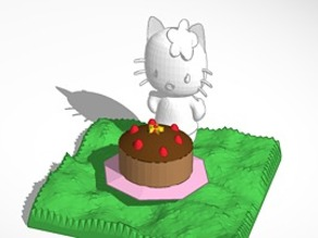 smaller hello kitty with cake