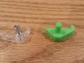 Ikea glass shelf bracket