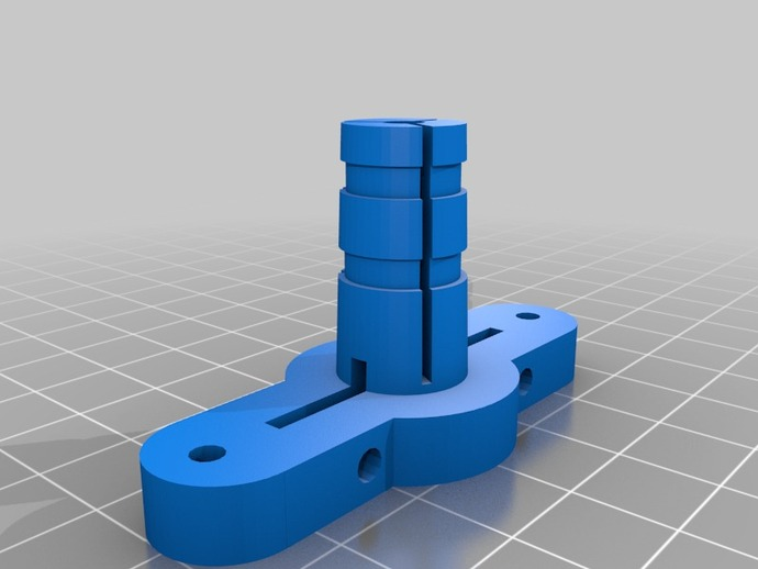 Rostock Hotend Mount / Bowden Clamp