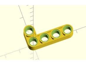 Lego Technic: Perpendicular Beam Connector Customizable