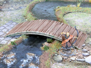 Japanese Samurai Wooden Bridge