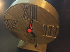 Remixed Desk Clock with Roman Numerals