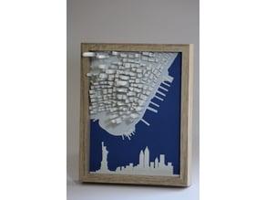 New York - Manhattan remixed + skyline