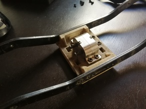 Transfer case mount/skid for scx10 RCX 6x6 frame