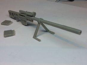 Futuristic heavy Sniper Rifle with removable clip.