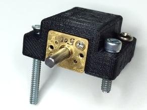 Pololu Micro Metal Gearmotor Mount (Flat Screw Base)