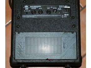 VOX DA5 amplifier door powered by solar power bank