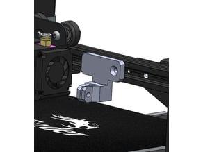 Support comparateur diamètre 8mm gauge Creality Ender 3
