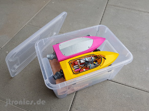 Mini RC Jet Boat - Ikea Transport Box