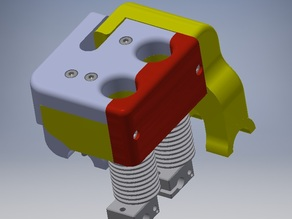 HOTEND MOUNT for Airwolf HD2x... Convert to E3D v6 NO Volcano - THIS IS FOR THE NON VOLCANO VERSION