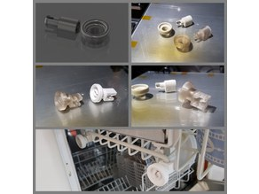 Dishwasher wheel with clip
