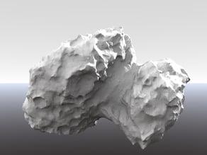 67P comet Rosetta new hires, complete model