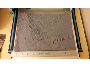 Philmont Topographical Model Resized